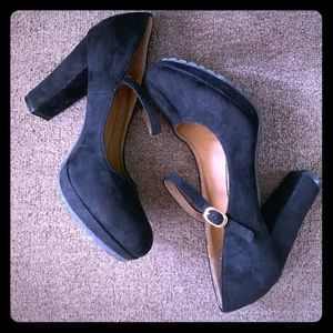 Mary Janes Women Black High Heels Shoes